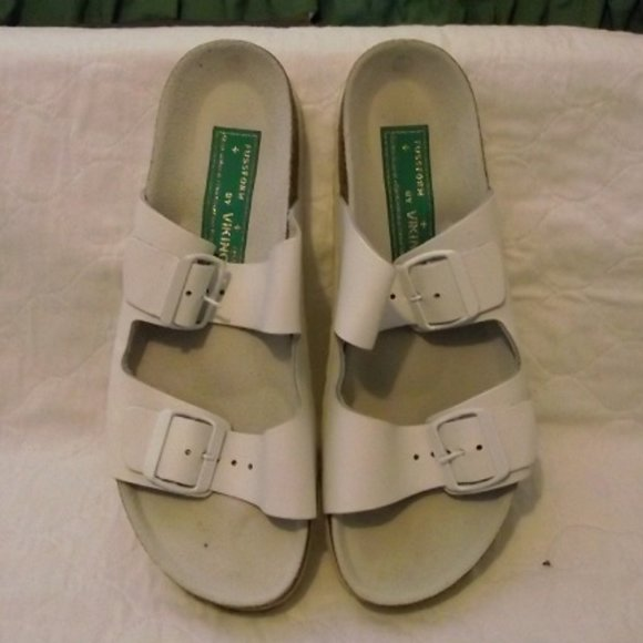VIKING  Fussform White sandals, women's, 40